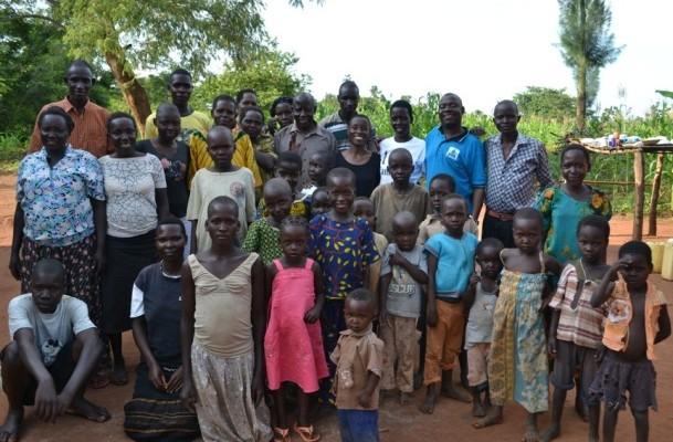 Family in Western Uganda