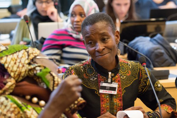Nassozi Kiyaga from Deaf Link Uganda, participates in 15th session of CRPD Committee, Geneva.