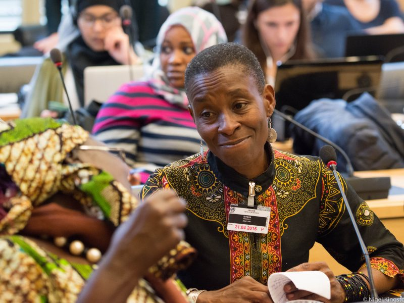 Nassozi Kiyaga from Deaf Link Uganda, participates in 15th session of CRPD Committee, Geneva.
