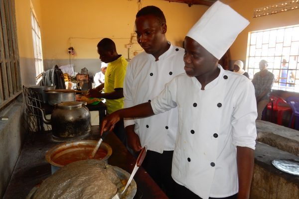 Deaf woman catering in Uganda