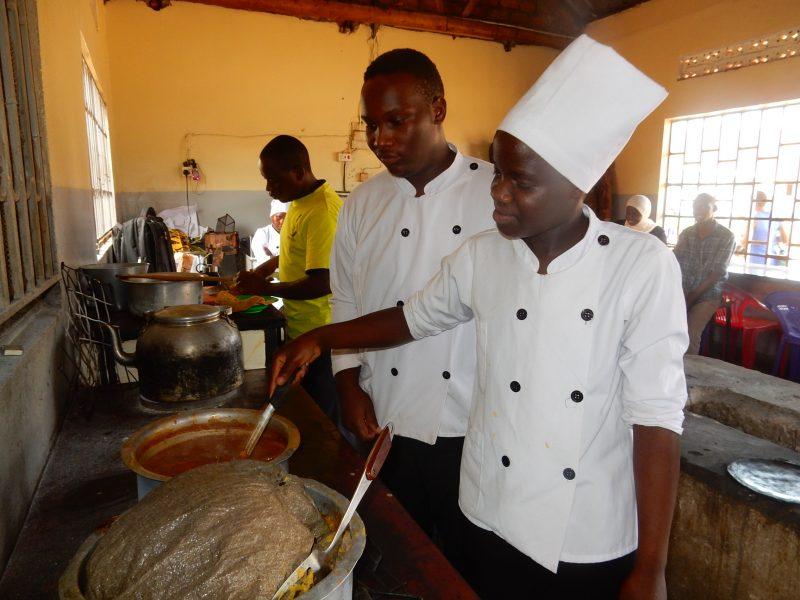 Deaf woman catering in Uganda