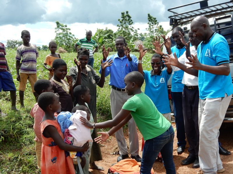 DLU donates clothings to children of deaf adults.