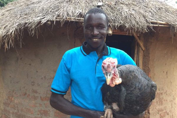 Olupot with his turkey.