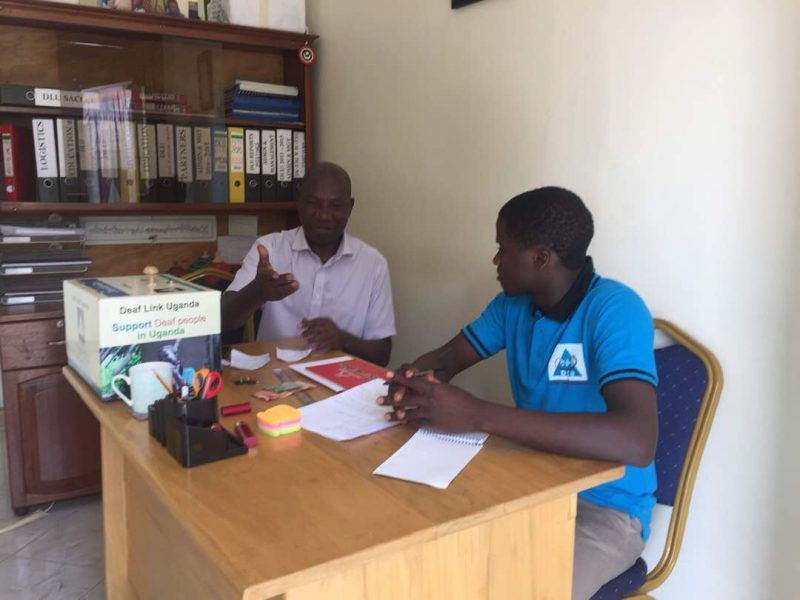 Abdu and Ismail at DLU office