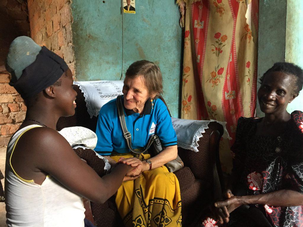 Maria meets Nakazzi (DLU beneficiary)