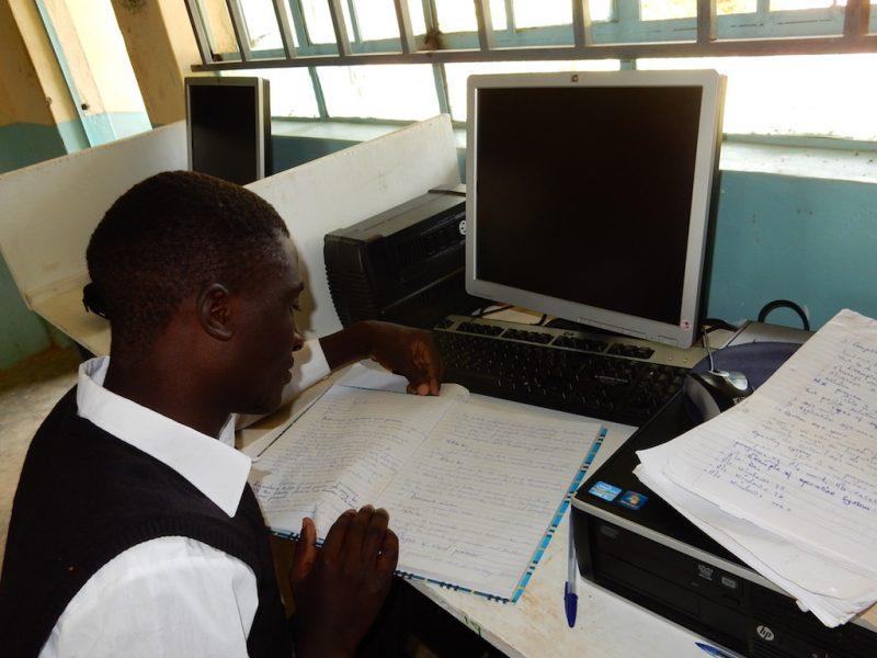 Davis studying