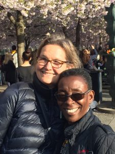 Anna Dahl Winge from Inter Action and Nassozi Kiyaga from DLU in Stockholm.