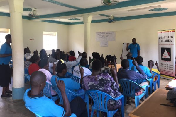 Sign language workshop at Vision TERUDO, Ngora Town
